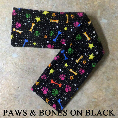 "FLANNEL Belly Bands for Male Boy Dog Waist 8-10"" XS MULTIPLE FABRICS for Charity"