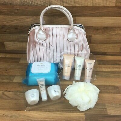 No 7 Pink Protect & Perfect Skin Care Travel Bag inc Day Night & Eye Cream Boots