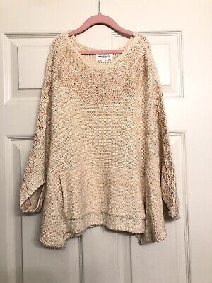 ZARA Girls Knit Wear Summer Collection Pink Sweater Cape Style Size 11 -12 152cm