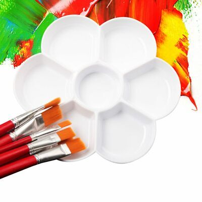 Paint Palette Mixing Plate Plastic Painting Art Craft Pallet Students Stationery