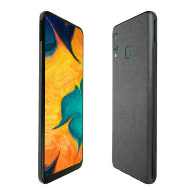 Skinomi Brushed Steel Skin Cover for Samsung Galaxy A20 [SM-A205G-DS]