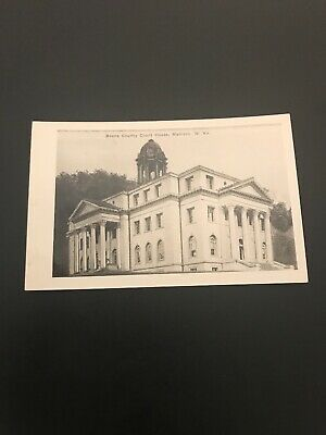 VINTAGE RPPC BOONE County Courthouse Madison West Virginia