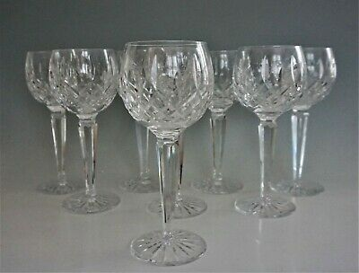 "Waterford Crystal Lismore Hock Wine Glasses 7 3/8"" Set of 8"