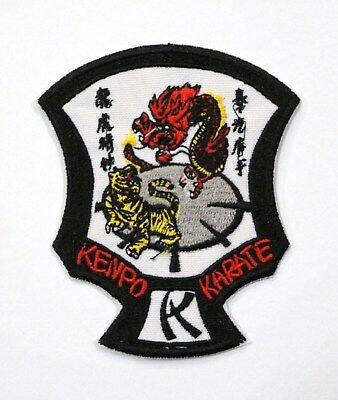 "NEW SMALL SIZE ED PARKER KENPO KARATE CREST PATCH 3/""H"