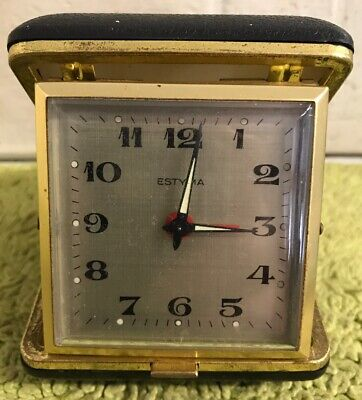 Vintage Estyma Folding Travel Alarm Clock (Untested)