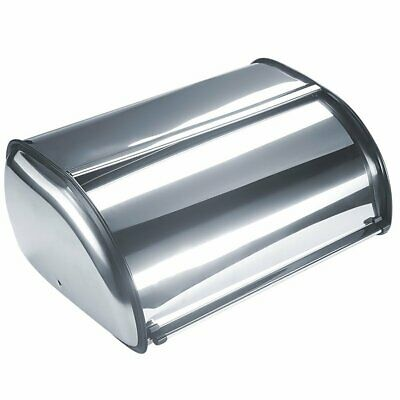 Bread Bin Storage Box Container Stainless Steel Holder Kitchen Fresh Food Lid