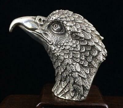 China hand-carved eagle head statue c02