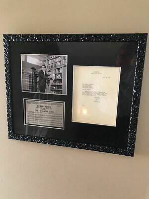 ROD SERLING AUTOGRAPH- TLS- Vintage Typed Letter Signed-TWILIGHT ZONE-RARE!