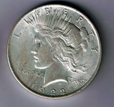 1922 US USA silver Peace One dollar coin : 26.7g