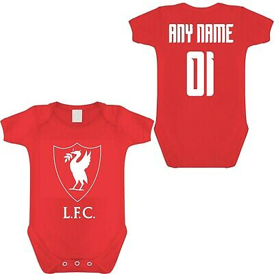 Liverpool Fc Football Babygrow Personalised Any Name & Number