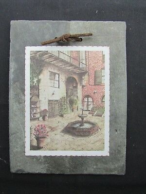1800's Antique Roofing Slate - Brulatour Courtyard New Orleans - French Quarter