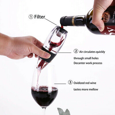 New Version Red Wine Aerator Pour Spout Bottle Pourer Aerating Decanter HF