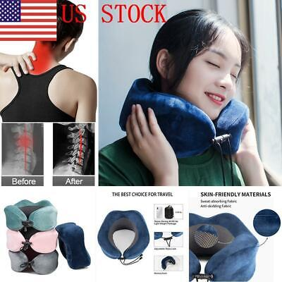 76 US U-Shaped Memory Foam Travel Pillow Pain Reliefe Neck Support Multi Color