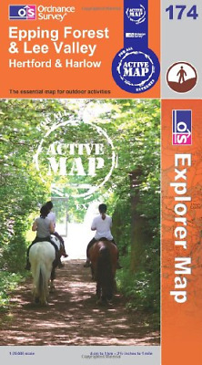 Epping Forest and Lee Valley (OS Explorer Map Active), Ordnance Survey, Good Con