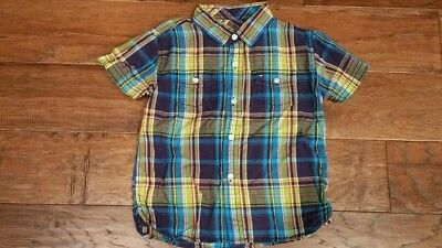 TOMMY HILFIGER Boys Blue Green Red Plaid Shirt Top Size  2T 3T