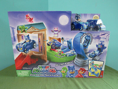 Spinning Romeo PJ Masks Rival Racers Track Playset Catboy Toy Pop-Up Luna Girl