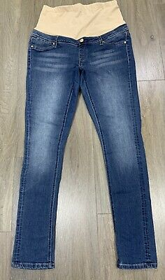 Ladies size 12 Blue JEANSWEST Maternity Super Skinny denim jeans -*Great Con*