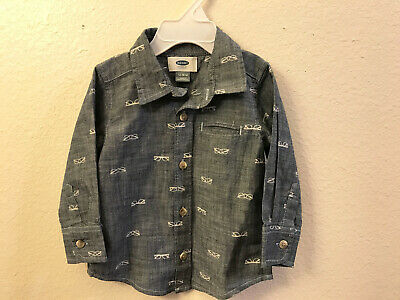 New with Tags Old Navy baby infant Chambray button down shirt 12-18 M No Reserve