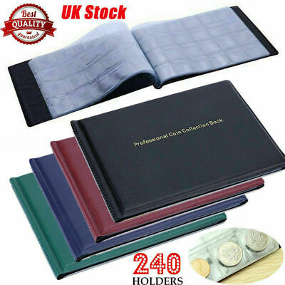 240 Album Coin Penny Money Storage Holder Folder Book Case Collecting Collection