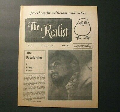 **The Realist* 1964 Issue 54 – Lenny Bruce – Paul Krassner – Counter-Culture*