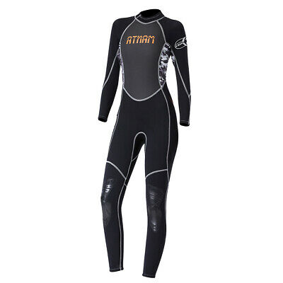 Women One-Piece Surfing Diving Wet Suit Long Sleeve Rashguard Sun Protection