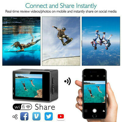 1080P/ 4K Definition WiFi HD Action Camera Photo DVR Video Recorder Sports Tool
