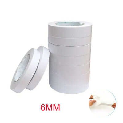Sale Best 5 Rolls DOUBLE SIDED CLEAR STICKY TAPE DIY STRONG CRAFT ADHESIVE 6MM