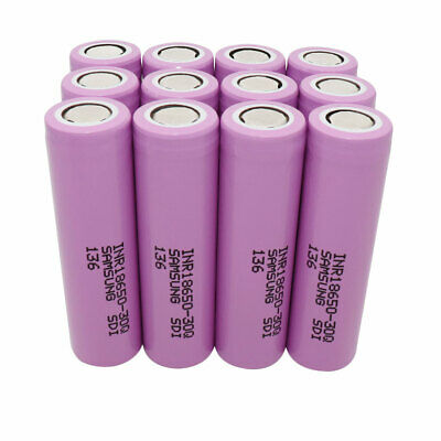 12pcs 18650 Batterie 3000mAh 3.7V Li-ion Pile Rechargeable Accu pour Power Bank
