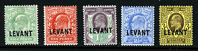 BRITISH LEVANT KE VII 1905-12 GB Issues Overprinted LEVANT SG L1 to SG L6 MINT