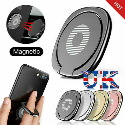 Universal Finger Grip Ring Phone Holder 360° Rotating Magnet Stand Phone Stand