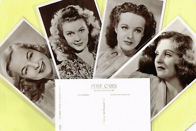ROTALFOTO 1950s Continental Size ☆ FILM STAR ☆ B/&W Postcards #N1 to #N69