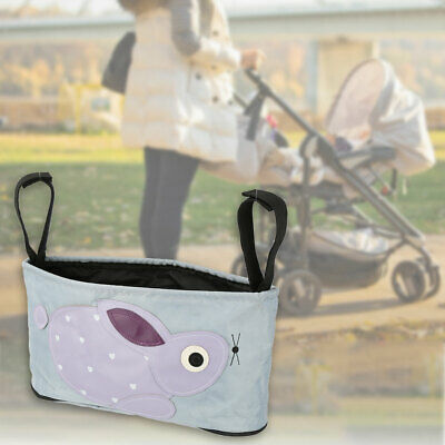 Baby Pushchair Buggy Organiser Bag Stroller Hanging Storage Wipes Cup Holder