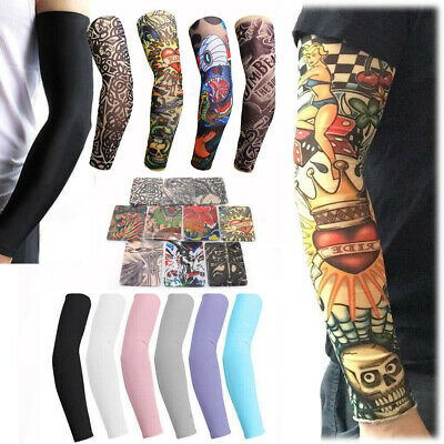 1xUV Protection Cooling Arm Sleeve for Men Women Sunblock Compression Cover