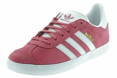 Womens Ladies Kids Girls Adidas Gazelle J Pink Trainers B41514