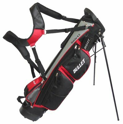 Bullet Cruiser Black Grey Red Lightweight Black 6 inch Golf Stand Carry Bag