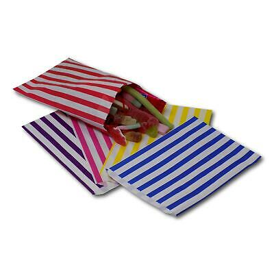 "Premium 45gsm 5"" x 7"" Candy Stripe Sweet Wedding Favour Gift Shop Paper Bags"