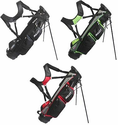 Bullet Cruiser Lightweight 6 inch Golf Stand Bag Divider Carry Dual Caddy Strap