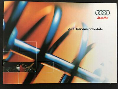 AUDI A4 SERVICE BOOK GENUINE BRAND NEW FOR ALL MODELS PETROL AND DIESEL S4 RS4