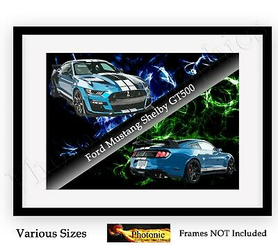 FORD MUSTANG V 6 AA551 CAR POSTER Photo Picture Poster Print Art A0 to A4