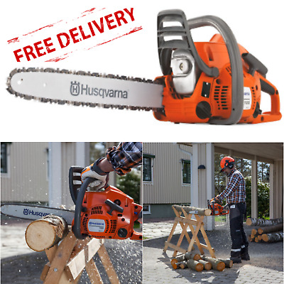 Petrol Chainsaw Husqvarna Tree Surgery Prune Cutter 2 Stroke Heavy Duty 36cm Bar