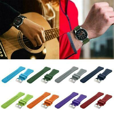 22mm Various Color Soft Silicon Watch Band Strap Rugged Replacement For Sam G5P8