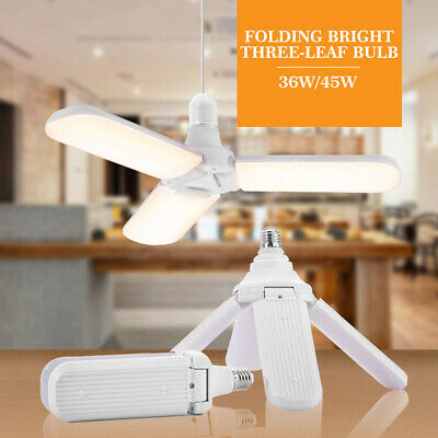 E27 Fan Blade LED Bulbs Foldable Super Bright Ceiling Light Lamp Practical 1X US