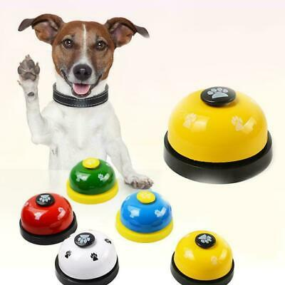 Toy Footprint Ring Small Funny Dog Training Called Bell Pet Dinner Call Pup U8Z3