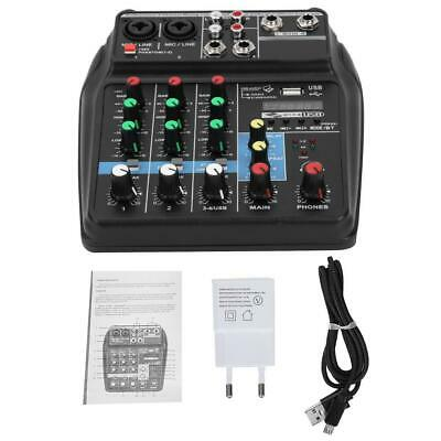 Professional 4-Channel Audio Mixer Sound Board Console System Stage Stereo Mixer