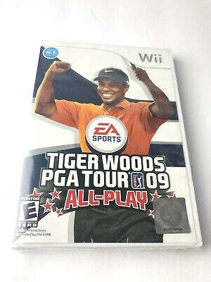 New Tiger Woods PGA Tour 09: All-Play (Nintendo Wii, 2008) Sealed