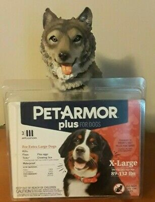 PETARMOR PLUS FOR X LARGE DOGS 89-132-44lbs (3 Applications) PET ARMOR