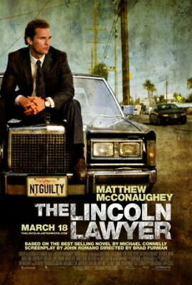 238295 THE LINCOLN LAWYER Movie MATTHEW MCCONAUGHEY WALL PRINT POSTER CA