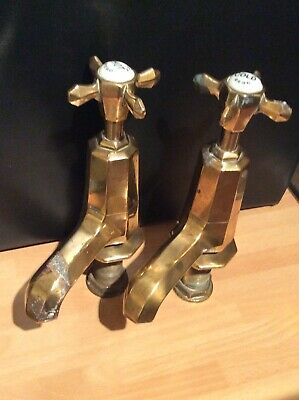 Octex MWB  Art Deco Heavy Brass Bath Taps