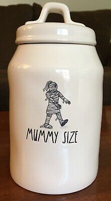 Rae Dunn Mummy Size Halloween Canister Artisan Collection By Magenta NWT