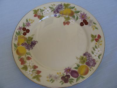 LENOX Special USA Orchard Fruits Dinner Plate Gold Rim Peach Apple Pear Plum VTG